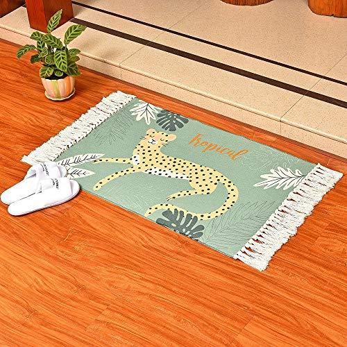 Tapis de bain Shaggy de luxe, Tapis de salle de bain Tapis de sol Tapis de sol Tapis de porte de toilette Tapis de pied Tapis de bain Antidérapants, Super Doux, Plush et Absorbant 60 * 90cm