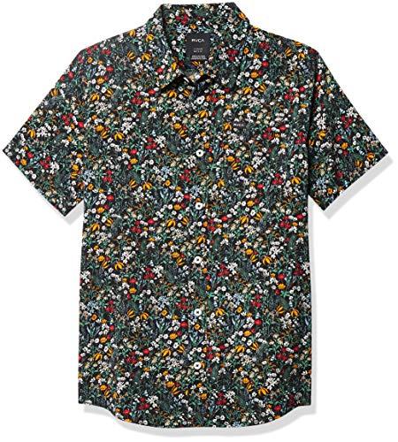 RVCA Jungen Costello Short Sleeve Woven Shirt Hemd mit Button-Down-Kragen, Mehrfarbig, S