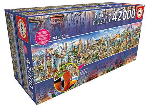 Educa - XXL Puzzles, La Vuelta al Mundo, Puzzle Gigante de 42.000 piezas (Ref. 17570)