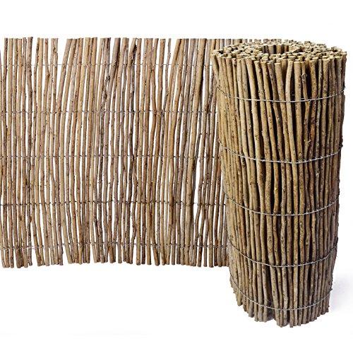 Weidenprofi Robinienmatte, Sichtschutz aus Robinie, Verkleidung Rollzaun, Größe (BxH): 300 x 50 cm