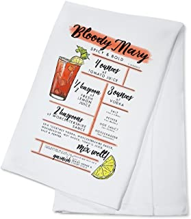 Bloody Mary - Cocktail Recipe (100% Cotton Kitchen Towel)