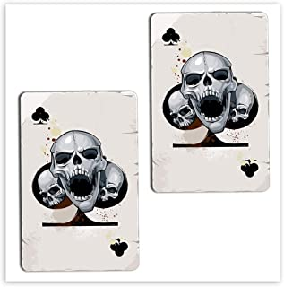 SkinoEu® 2 x vinyl självhäftande klistermärken klubbar skalle poker spelkort laptop iPad bilfönster auto motorcykel hjälm ...