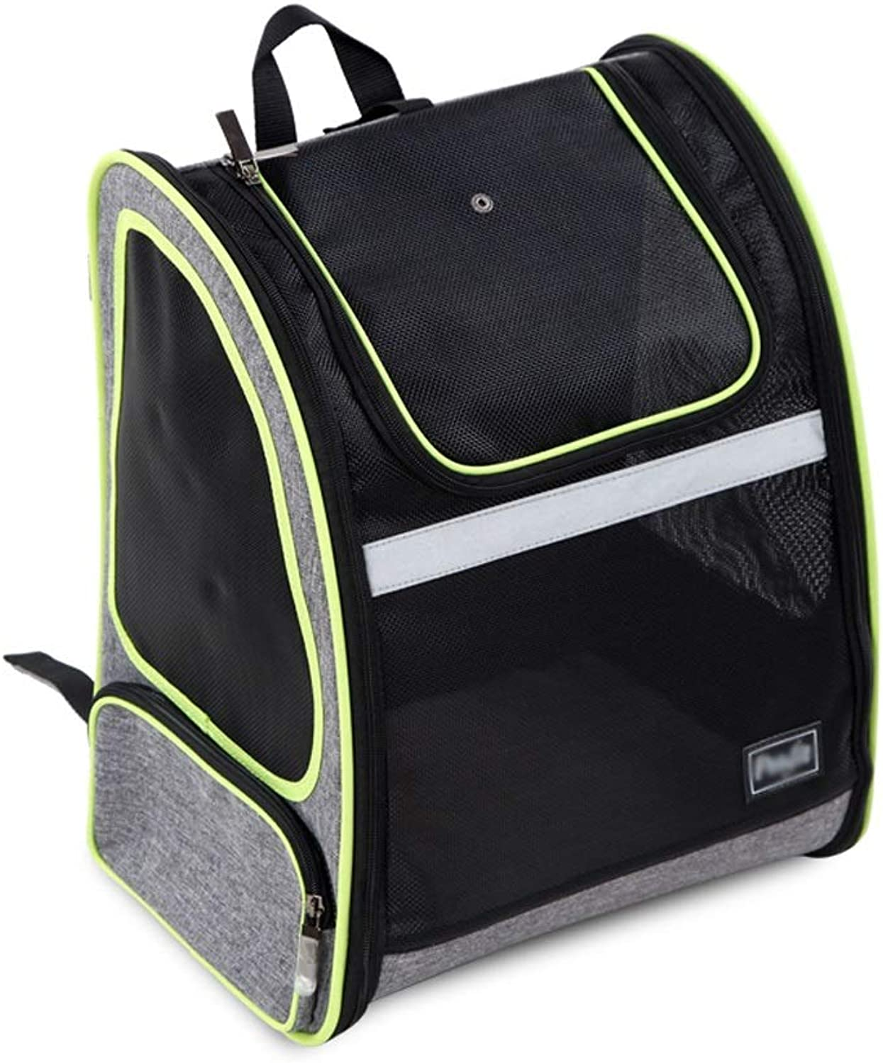 CL Pet Bag Out Portable Full Mesh Breathable Pet Backpack, 330X260X420mm Pet Bag
