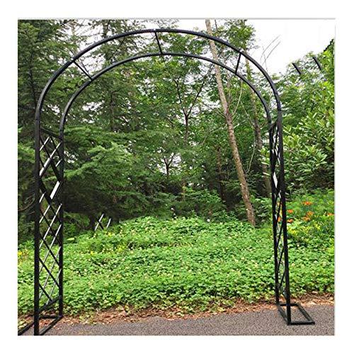 HLMBQ Rosenbogen verzinkt Schwer Rankbogen Torbogen Gartenbogen wetterfest Rankgitter Rosenhilfe Extra breiter Gartenbogen,Edelrost 1.4x2.3m,1.8x2.3m,3x2.3m,4x2.3m