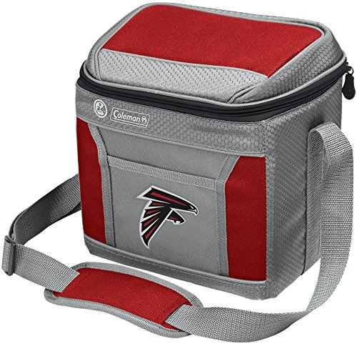Coleman NFL Soft-Sided Insulated Cooler and Lunch Box Bag, 9-Can Capacity, Atlanta Falcons