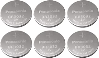 Panasonic Battery, Lithium Button Cell Br3032 (6 Pieces)