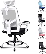 ALFORDSON Mesh Office Chair Gaming Executive Fabric Seat Racing Footrest Recline(White)