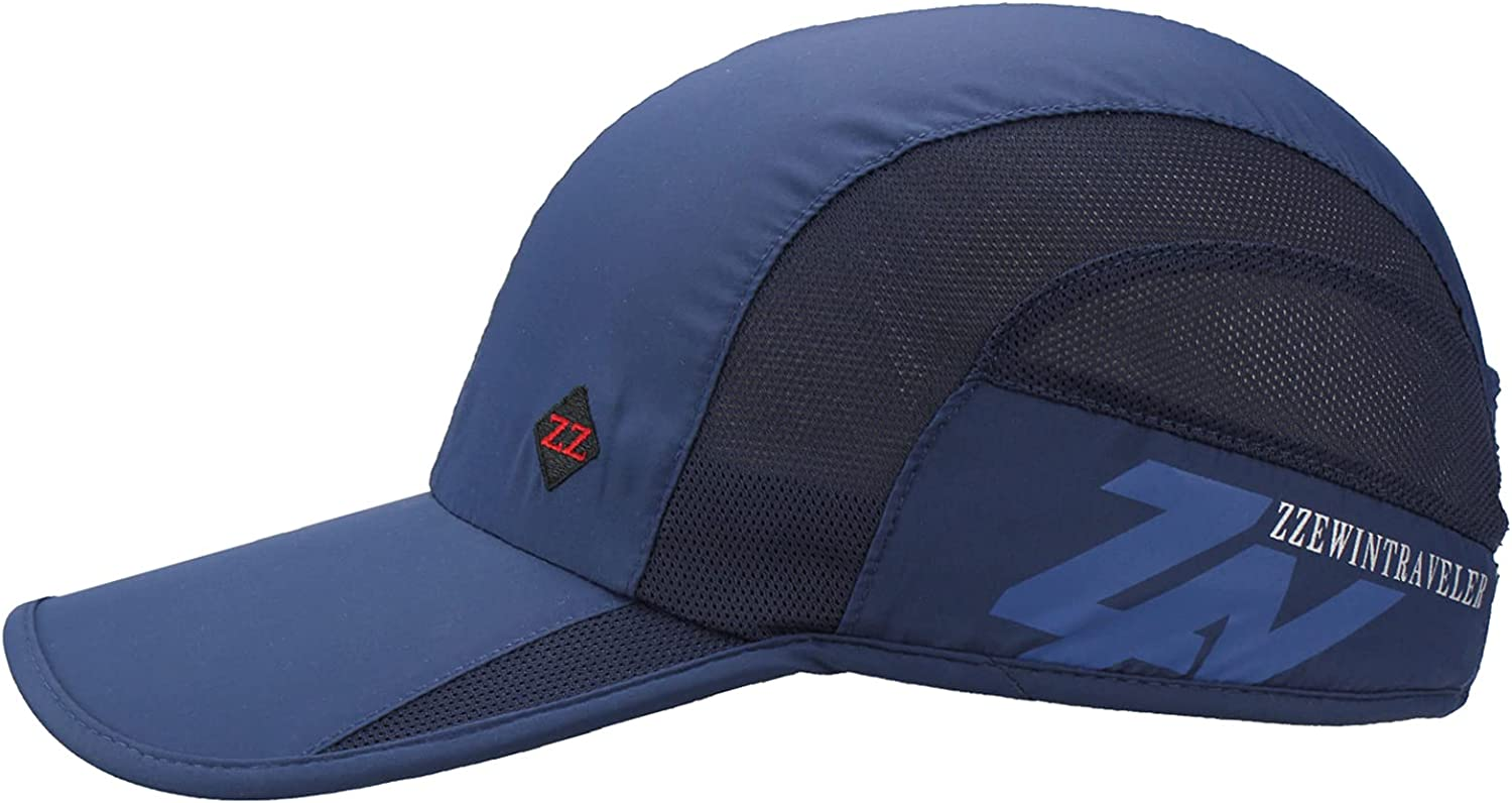 Rapid rise ZZEWINTRAVELER Quick Dry Sports Soft Lightweight Cap trend rank Breathable