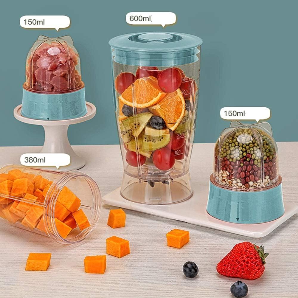 JISHIYU Portable Mini Blender électrique Juicer Coupe multifonctions petits fruits Mixer hachoir à viande - Accueil extérieur étanche Bureau Voyage (Color : Red) Red