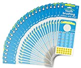 Tick Tock, LLC. Tooth Brushing Stickers and Chart: Bulk 100 Units. Ideal for Pediatric Dentist...