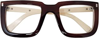 Big Square Horn Rim Eyeglasses Nerd Spectacles Clear Lens...