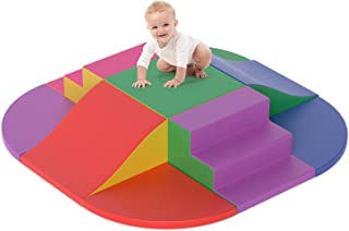 SURPCOS Foam Climbing Blocks for Toddlers 1-3, 9 Pcs Solid, Durable and Soft Kids' Indoor Climbers & Play Structures, Ligh...