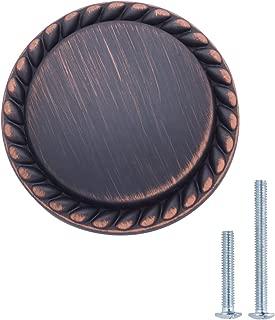 AmazonBasics Round Braided Cabinet Knob, 1.25 Inch Diameter, Oil Rubbed Bronze, 10-Pack