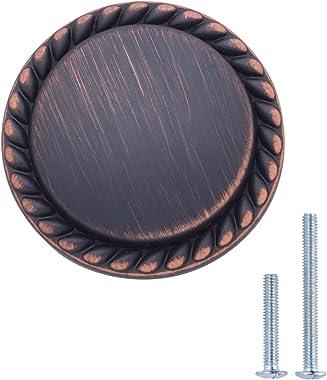 Amazon Basics Round Braided Cabinet Knob, 1.25-inch Diameter, Oil Rubbed Bronze, 10-Pack