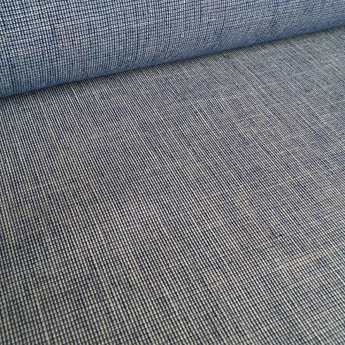 Leno – linne – elastisk – blå kräm smälter – metervara