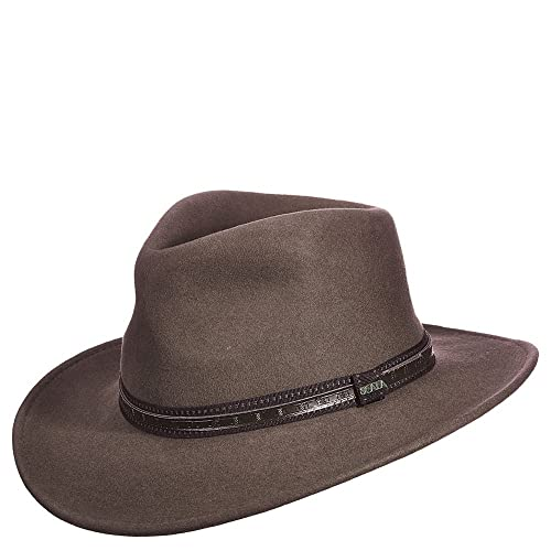 900e78ef7bf Scala Men s Crushable Wool Outback Hat - Df105