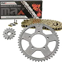 Gold O-Ring Chain and Sprocket Kit for Suzuki GSX750 F Katana 1987 1988 1989 1990 1991 1992 1993 1994 1995 1996 1997