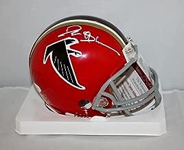 Deion Sanders Autographed Atlanta Falcons Red Mini Helmet- JSA Witn Auth white