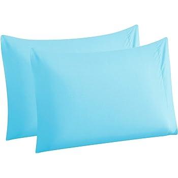 White Bluedotsky Bedding Microfiber Pillowcase Standard Set of 2