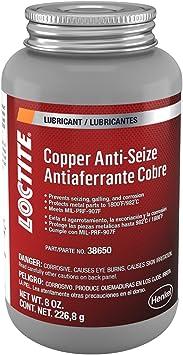 Loctite 555336 Copper Anti-Seize Lubricant Brush Top, 8-oz.: image