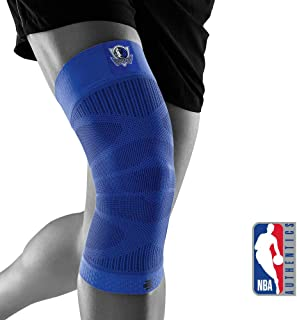 Bauerfeind Sports Compression Knee Support NBA - Lightweight Design with Gripping Zones for Basketball Knee Pain Relief & Performance with Team Logos