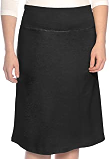 Kosher Casual Women's Modest A-Line French Terry Cotton Spandex Knee Length Sports Skirt