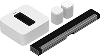 Sonos 5.1 Home Theater System with One SL (1 Item) Bundle with One (1 Item), PLAYBAR TV Soundbar (1 Item) and SUB (1 Item) - White