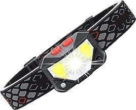 AUTUUCKEE LED Koplamp Verstelbare Hoek Super Heldere USB Oplaadbare Bewegingsgebaar Sensor Koplamp (Zwart)