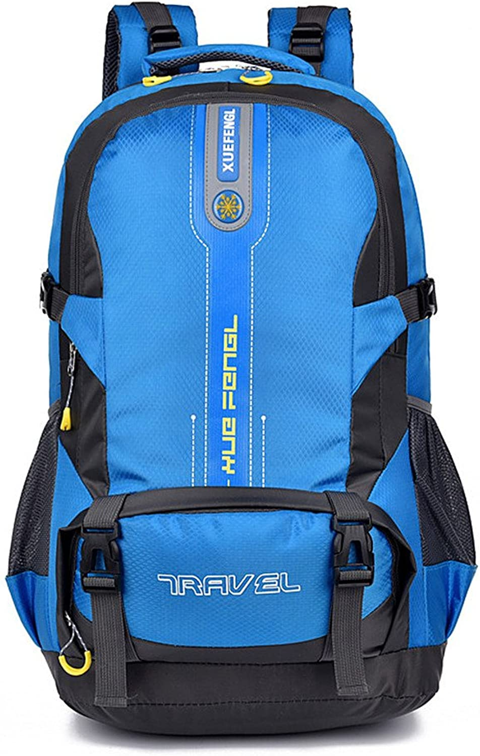 Backpacks Climbing Shoulder Climbing Backpack MultiFunction HighCapacity Travel Camping Backpack Suitable for Outdoor Sports Waterproof Mountaineering Bag (color   blueee)