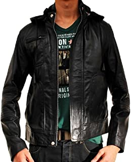 New York Lambskin Leather Ghost Protocol Leather Hoodie Jacket