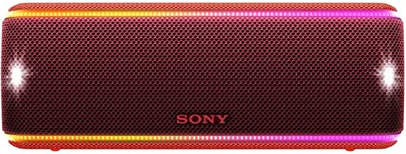 Sony SRS-XB31 Portable Wireless Bluetooth Speaker, Red (SRSXB31/R)