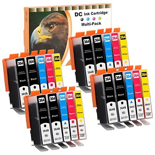 Cartuchos de impresora para HP sustituye 364, color 20er Set (B/C/M/Y)