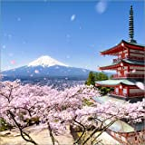Poster 70 x 70 cm: Chureito Pagode und Berg Fuji im
