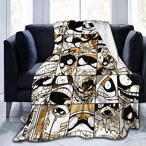 My Hero Academia Collage Anime Kirishima Mantas de sofá suave y cálida franela para viajes, camping, hogar, ropa de cama, sala de estar, goma de grasa, 203 x 152 cm