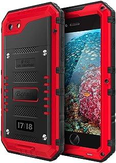 Beeasy Funda Armadura iPhone 7/8 Impermeable,IP68 Certificado Sumergible Carcasa,360 Grados Protección Protector de Pantal...