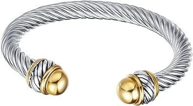 UNY Fashion Jewelry Brand Cable Wire Retro Antique Bangle Elegant Beautiful Valentine