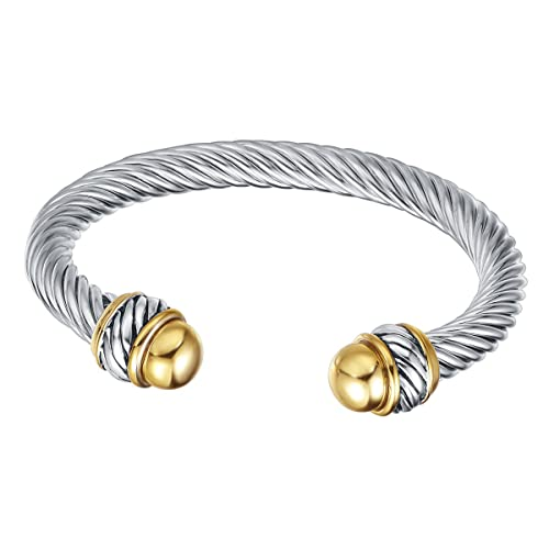 72cc19f1875 UNY Fashion Jewelry Brand Cable Wire Retro Antique Bangle Elegant Beautiful  Valentine