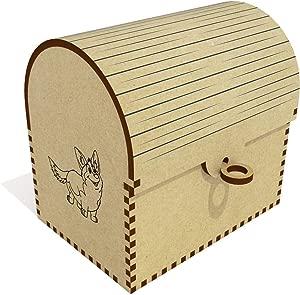 Azeeda  Happy Corgi  Treasure Chest Jewellery Box  TC00041301