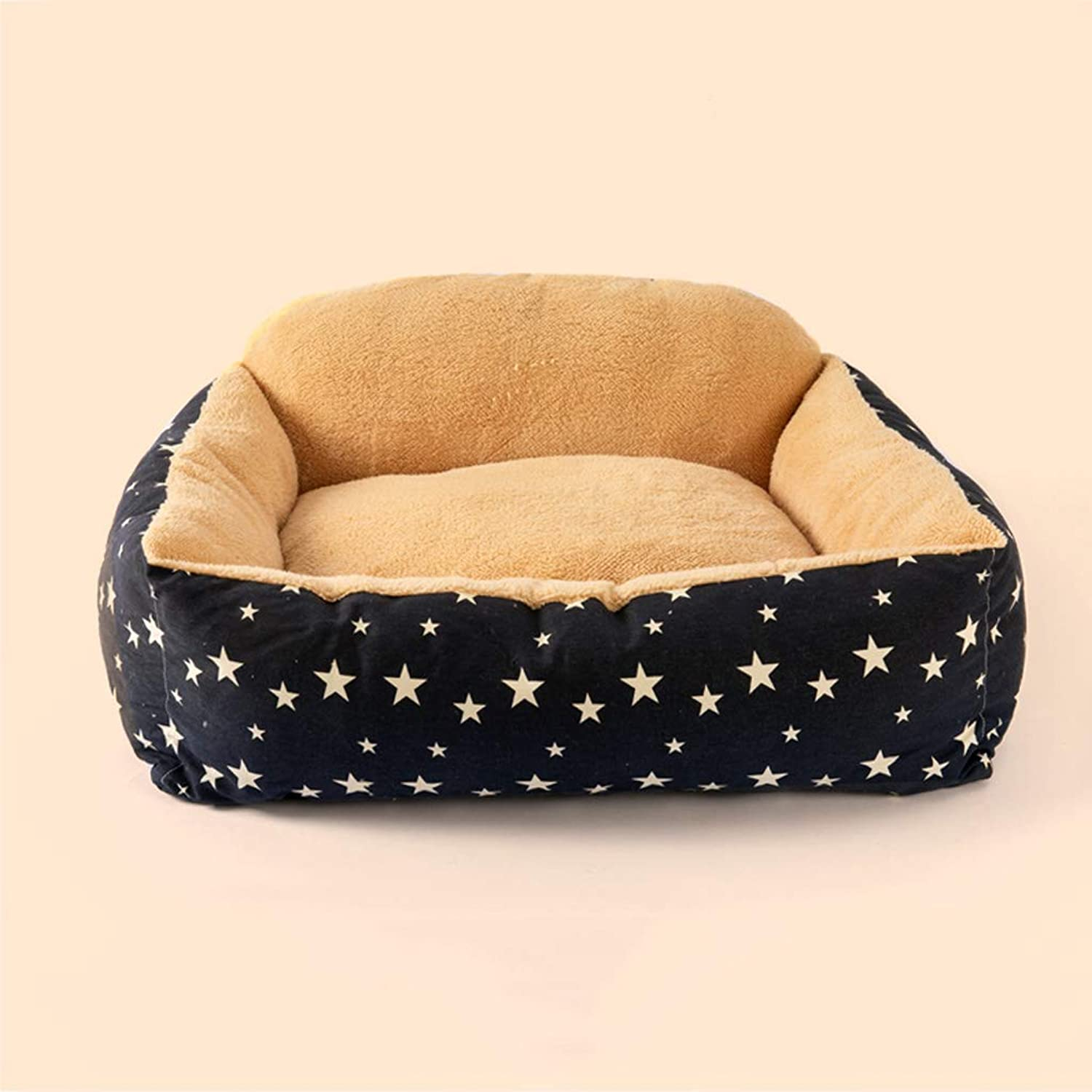 Kennel removable and washable four seasons universal pet mat large mediumsized small dog pet cat mat winter warm60  50  22cm