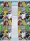 Character World Vorhang Marvel Comics Marvel Comics Design Kinderzimmer Vorhänge - perfekt für jedes Kinderzimmer, 54 inch
