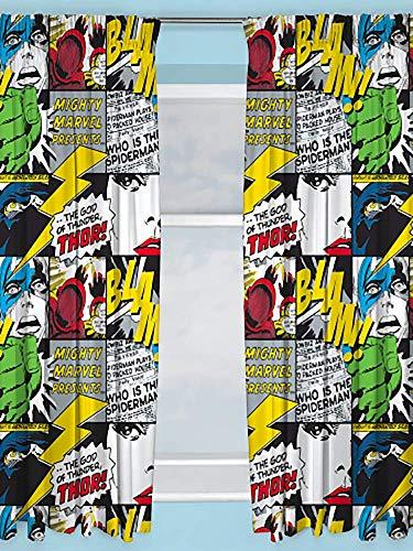 Character World - Cortinas Infantiles con diseño de cómics de Marvel, 54 Pulgadas