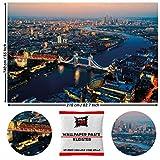 GREAT ART Wanddekoration London Sunset - Stadtlandschaft UK