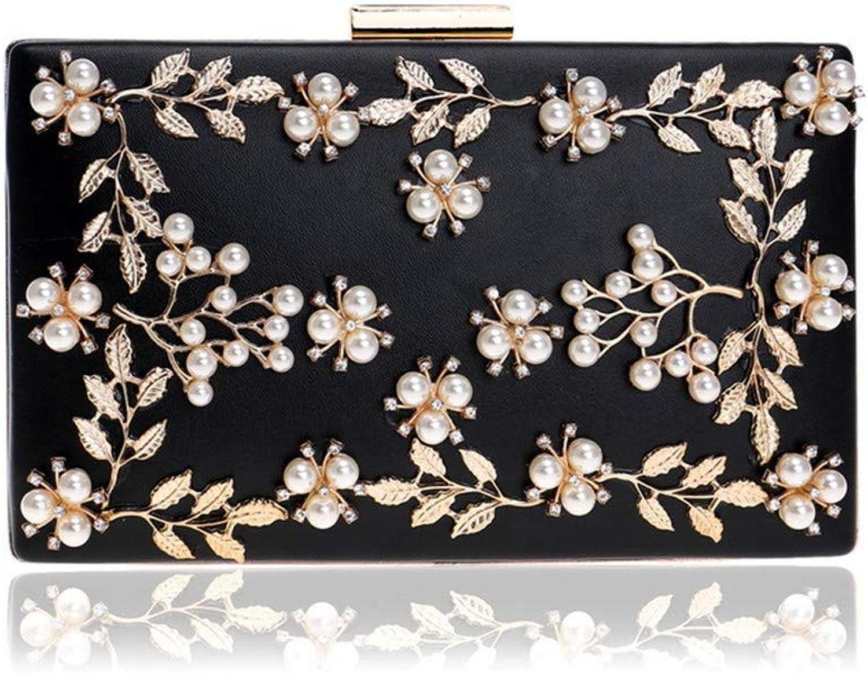 Zhangcaiyun Clutch Handtaschen Frauen Perle Handtasche Blaume Abendtasche Handtasche Hochzeit Kupplung Geldbörse Damen (Farbe   Schwarz) B07LC8LS2V  Einfach zu bedienen