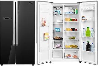 Super General 600 Liters Gross Side-By-Side Refrigerator-Freezer, Temperature Control, Black, SGR-860-SBS, 90.5 x 67 x 177...