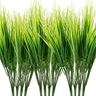 Artificial Wheat Grass: 12 bunches, 7 stems each bunch, total 84 stems. 12-16 inches/ 30-40 cm length per bunch Material: Made of high quality plastic, bright color, non-toxic, would stay bright and fresh in a long time Stay Fresh All Year Round: Art...