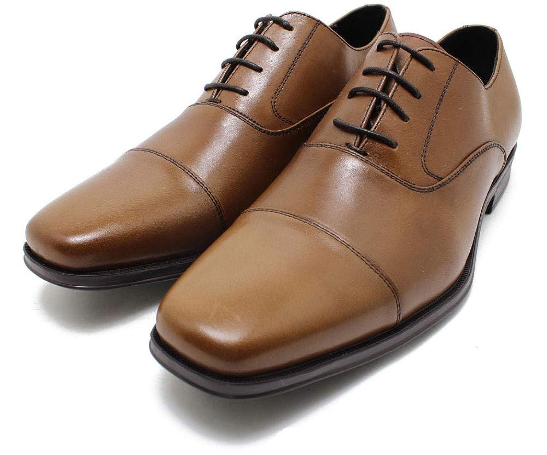 [フープディドゥ] 305104 ストレートチップシューズ ブラウン 本革ビジネスシューズ ビジネス/ドレス/紐靴/革靴/仕事用/メンズmk