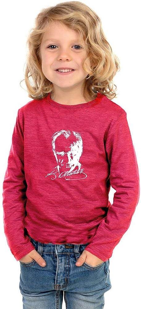 Langarmshirt Sweatshirt Basic Shirt mit Print Jungen und M/ädchen