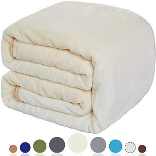 BALICHUN Fleece Blanket (Ivory, Travel)