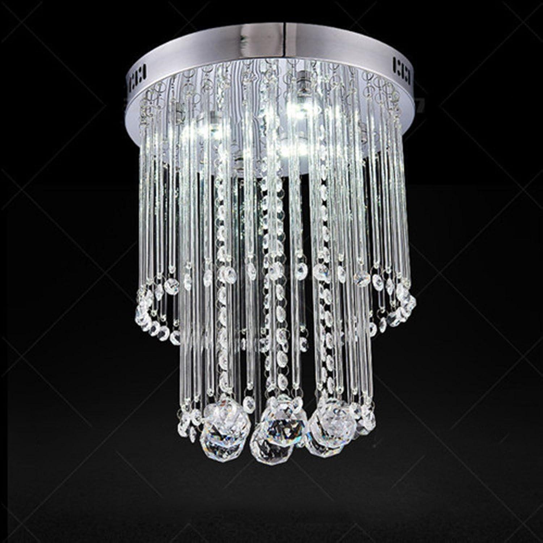 Moderne Kristall-LED-Deckenleuchte-Befestigung für Innenlampe lamparas de techo Oberflchen-Montage-Deckenleuchte für Schlafzimmer-Esszimmer, 9049, kühles Wei