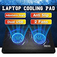Laptop Cooler Gaming Laptop Cooling Pad Silent Laptop Stand with Cooling Fan and 2 USB Ports for 14 15 17inch Notebook